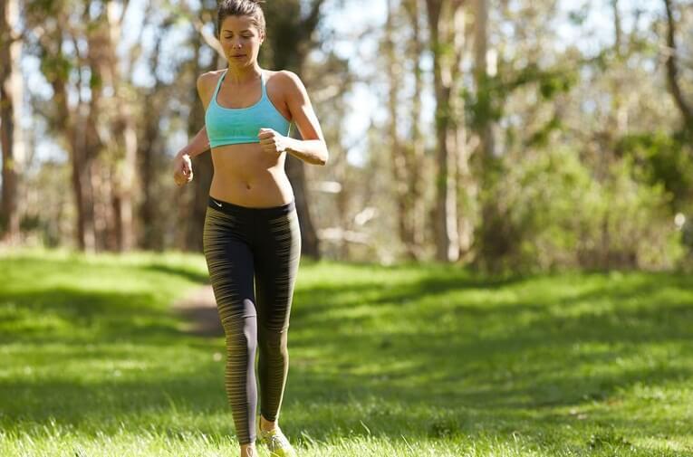 бег для похудения живота