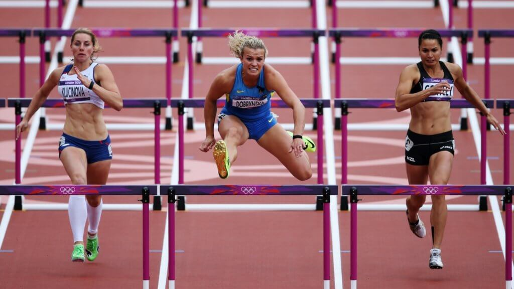бег с барьерами дистанции