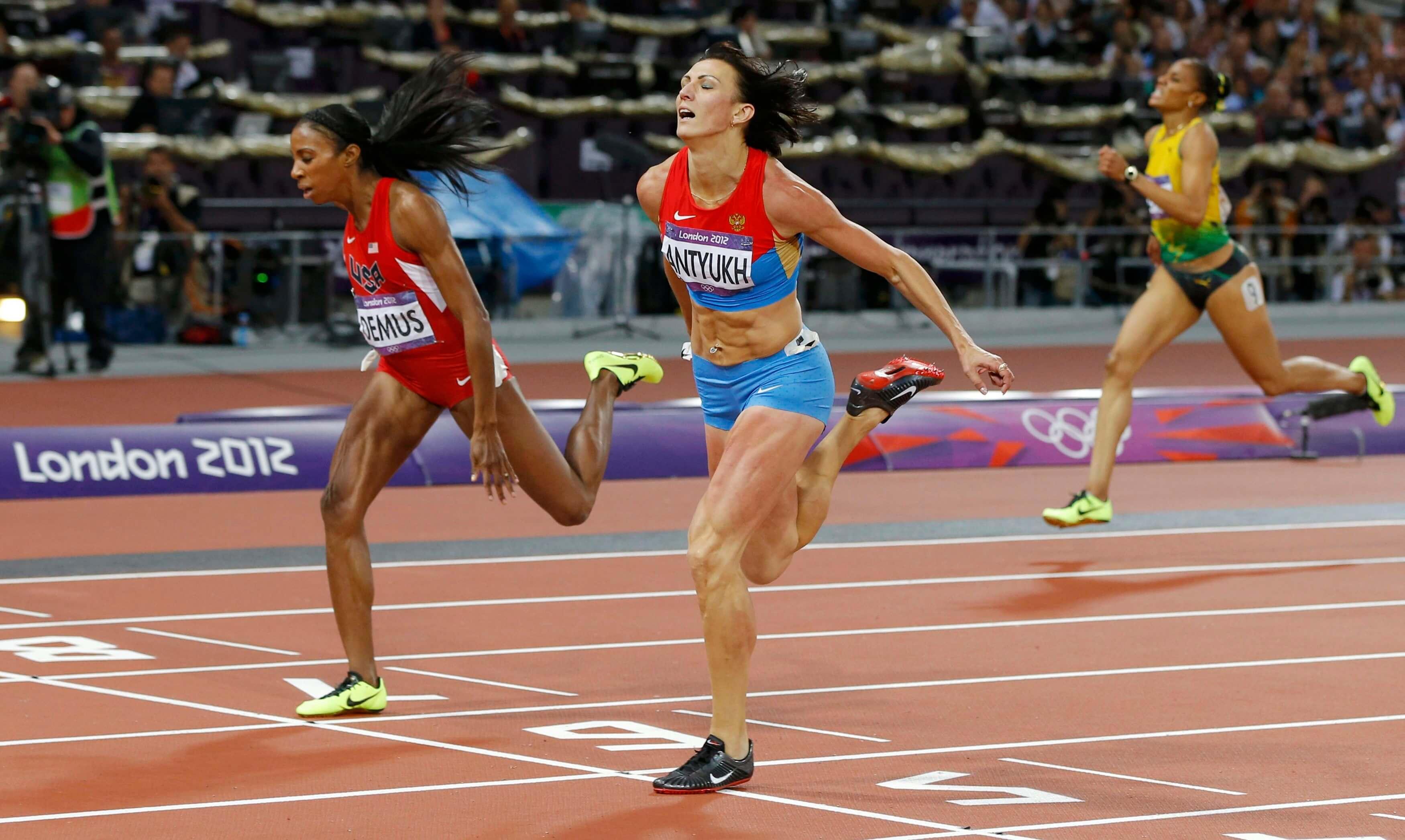 бег на дистанцию 400 метров