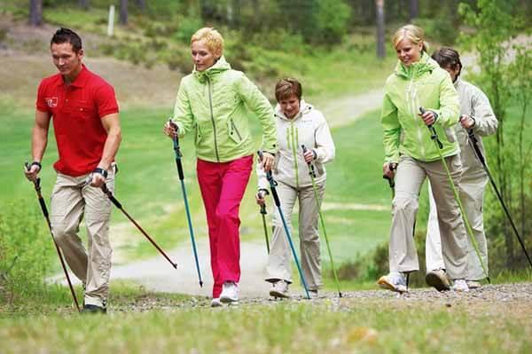 шведская ходьба с палками
