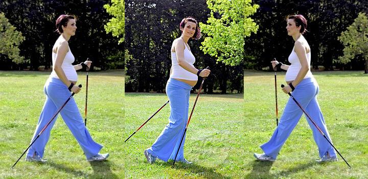 скандинавская ходьба при беременности