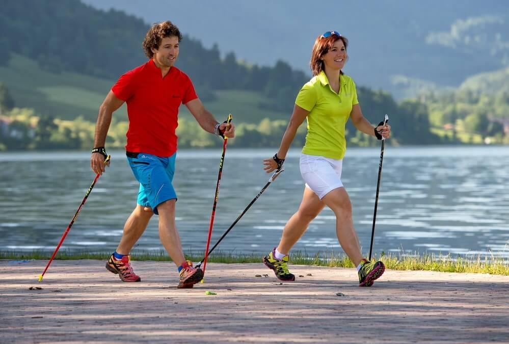 для скандинавской ходьбы подойдут лыжные палки