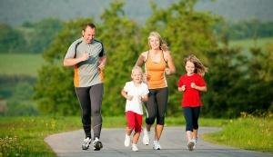 бег семьёй