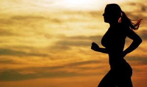 бег на закате для настроения