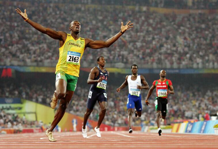 Мировой рекорд 100 метров мужчины