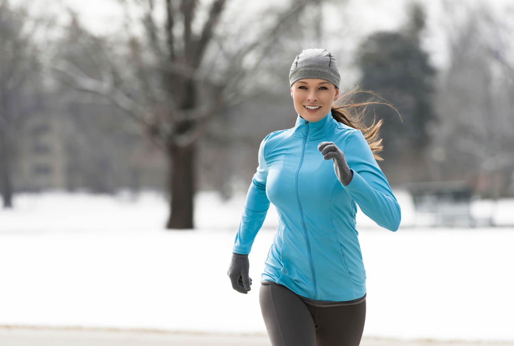 бег по холоду