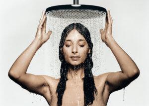 душ после пробежки